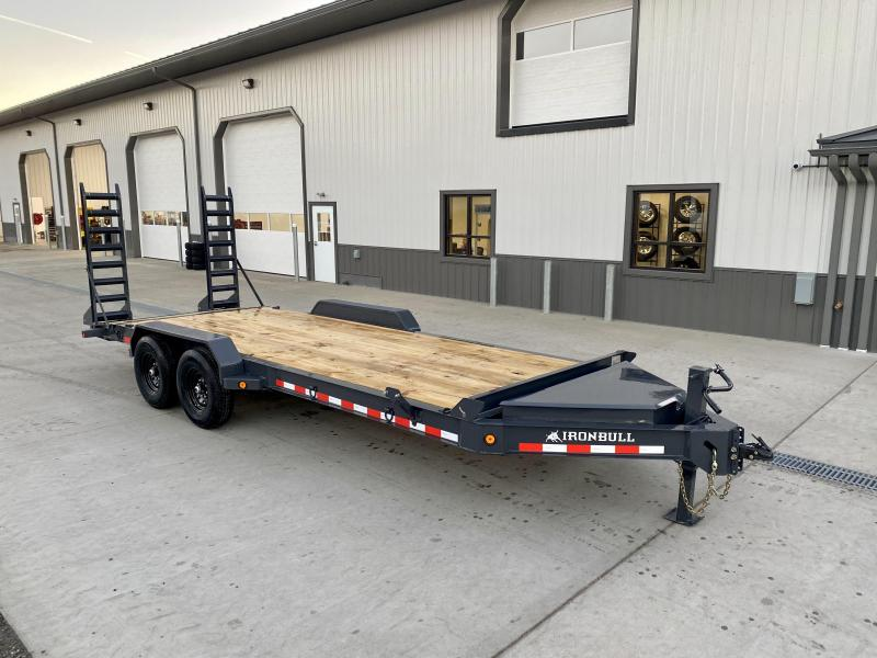 "2021 Iron Bull 7x20' Equipment Trailer 14000# GVW * 8"" I-BEAM FRAME * OVERSIZE TOOLBOX * LONGER 6' RAMPS * DEXTER AXLES * HD COUPLER"