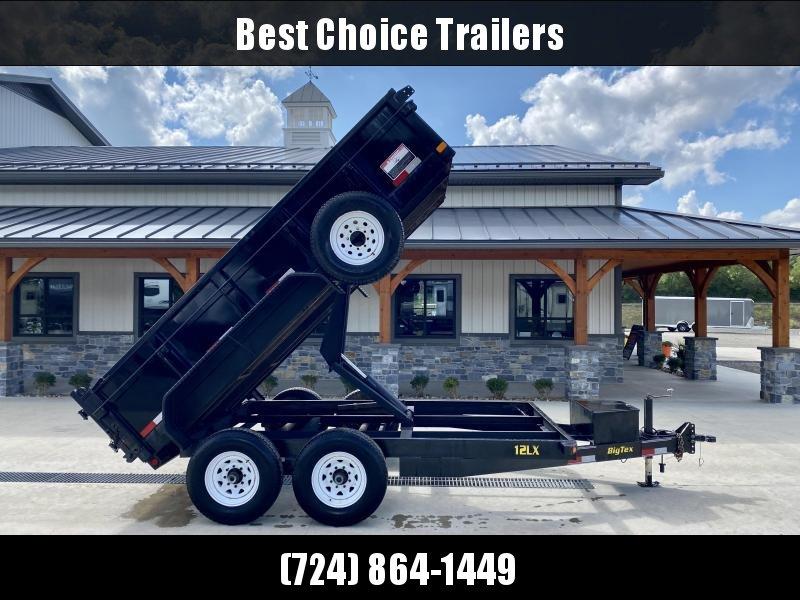 USED 2011 Big Tex Low Profile Dump Trailer 12000# GVW * UNDERMOUNT RAMPS * SCISSOR HOIST * SPARE TIRE * ADJUSTABLE COUPLER * DROP LEG JACK * COMBO GATE