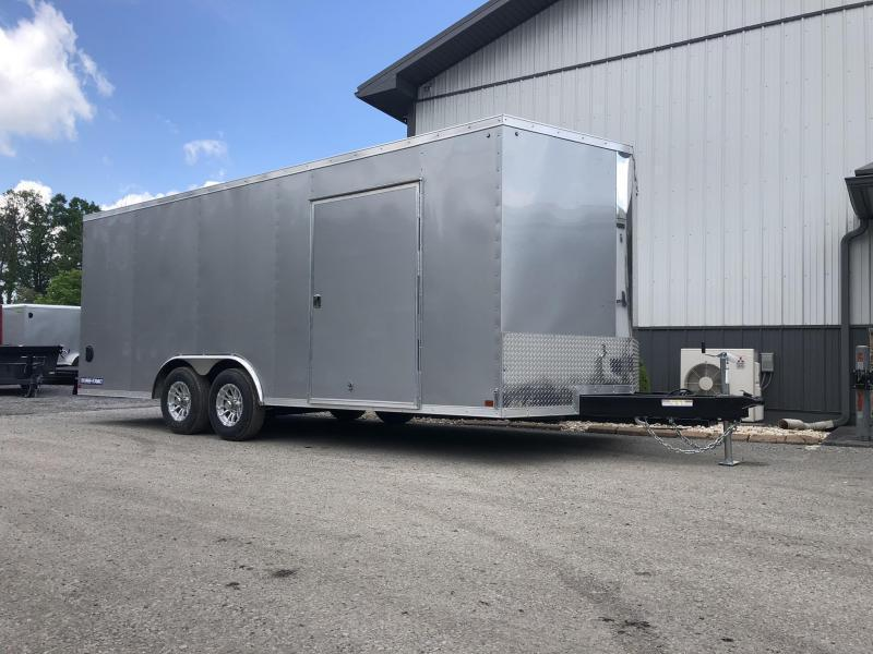 2021 Sure-Trac 8.5x20' Enclosed Car Trailer 9900# GVW * SILVER * TORSION * 7K DROP LEG JACK * SCREWLESS EXTERIOR