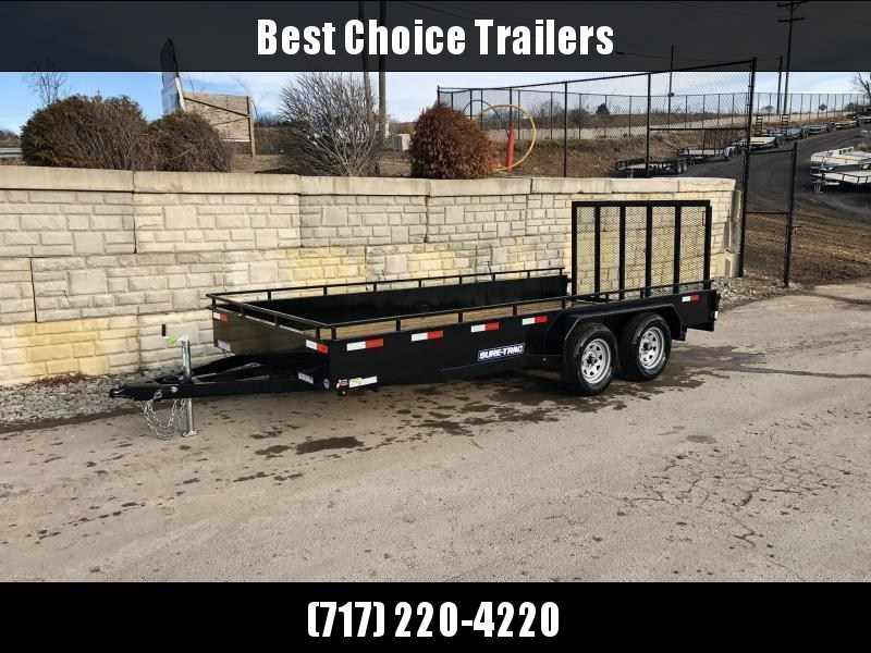 2021 Sure-Trac 7x16' Steel High Side Utility Trailer 7000# GVW