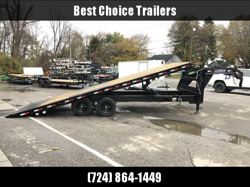 "2021 Load Trail 102x26' Gooseneck Deckover Power Tilt Flatbed Trailer 16000# GVW * GE0226082 * DEXTER 8000# AXLES * SCISSOR HOIST * I-BEAM BEDFRAME * SIDE TOOLBOX * DUAL JACKS * BLACKWOOD FLOOR * WINCH PLATE * GREY * 17.5"" RUBBER * OIL BATH"