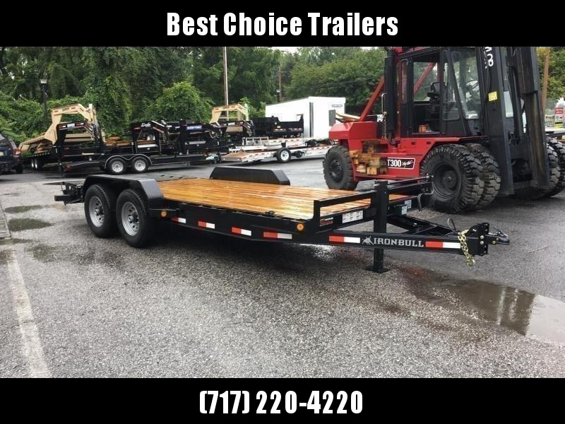 """2021 Ironbull 7x20' Equipment Trailer 14000# GVW * FULL WIDTH RAMPS * REMOVABLE FENDERS * 16"""" O.C. STRUCTURAL CHANNEL C/M * RUBRAIL/STAKE POCKETS/PIPE SPOOLS/D-RINGS * ADJUSTABLE CAST COUPLER * 12K JACK * DEXTER'S * 2-3-2 WARRANTY"""
