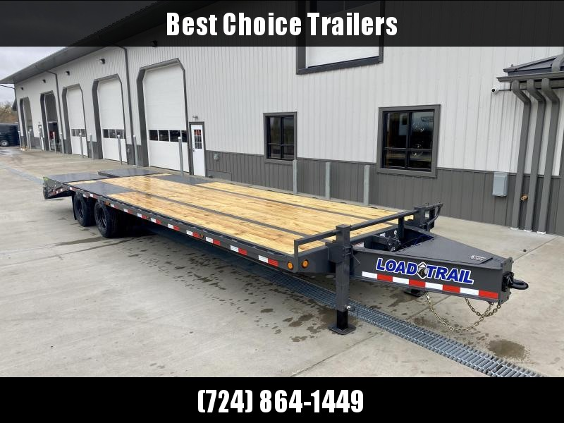 "2021 Load Trail 102x30' HD Deckover Trailer 22000# GVW * GRAY * FULL WIDTH RAMPS * HD PINTLE COUPLER * HDSS SUSPENSION * 10""/19# I-BEAM FRAME * TOOLBOX * DUAL JACKS * SPARE MOUNT * DEXTER'S * PRIMER * 2-3-2 WARRANTY"