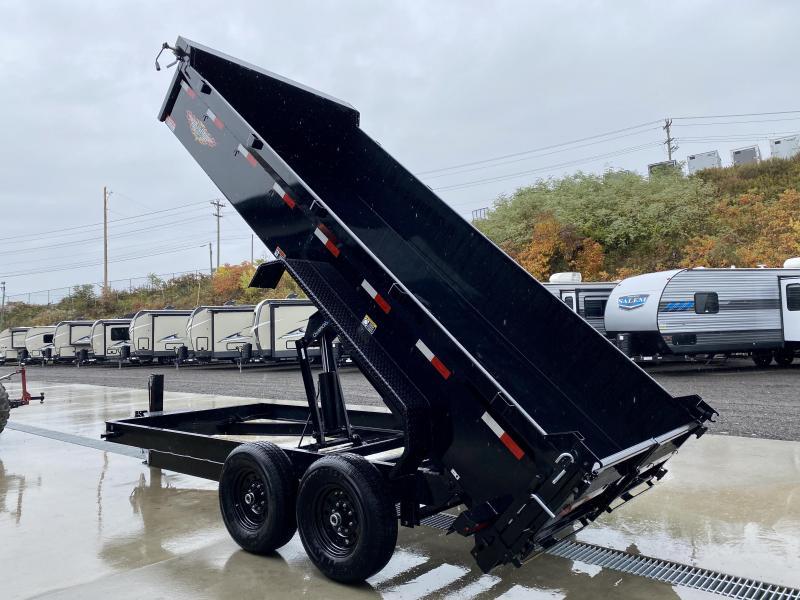 2021 H&H 7x14' 14000# gvw dump trailer h8314dbw-b-140