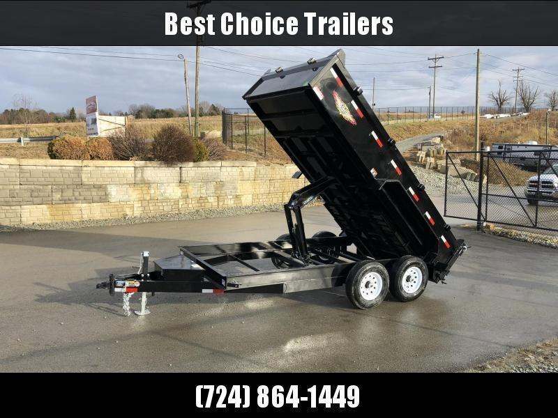 "2021 H&H 7x14' Low Profile Dump Trailer 14000# GVW * 7GA FLOOR UPGRADE * HYDRAULIC JACK * 4"" RAMPS * DELUXE TARP WITH SHROUD * 8"" FRAME * SCISSOR HOIST * COMBO GATE"