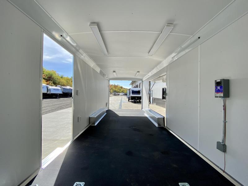2021 NEO 8.5x22' Aluminum Enclosed Car Trailer 9990# GVW * NUDO FLOOR/RAMP * FULL ESCAPE DOOR * SPREAD AXLE * REAR SPOILER * ALUMINUM WHEELS * SCREWLESS * 1PC ROOF * RV DOOR * POWER PACKAGE * LED LIGHTS * CEILING LINER * 7' HEIGHT