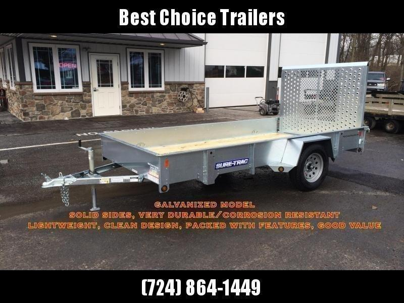 "2021 Sure-Trac 5x8' Tube Top Utility Landscape Trailer 2990# GVW * 2"" TUBE TOP RAIL * 2X2"" TUBE GATE C/M + SPRING ASSIST + FOLD FLAT * TOOLESS GATE REMOVAL * SPARE MOUNT * PROTECTED WIRING * SET BACK JACK * TRIPLE TUBE TONGUE * STAKE POCKETS * BULLET LED'"