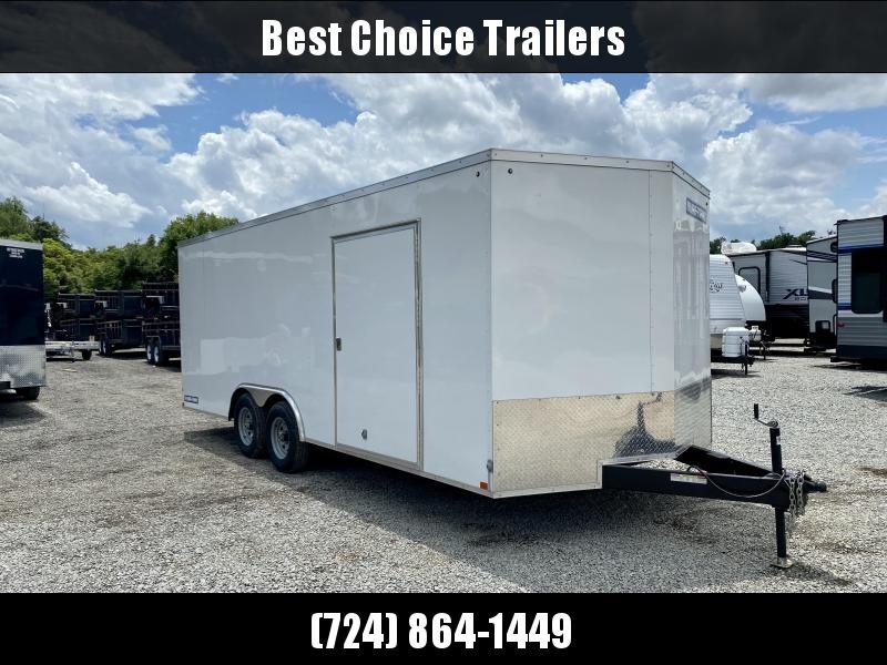 USED 2020 Sure Trac 8.5x20' Enclosed Car Hauler Trailer 9900# GVW * 5200# AXLES * RV DOOR * V-NOSE * RAMP DOOR * SPARE TIRE
