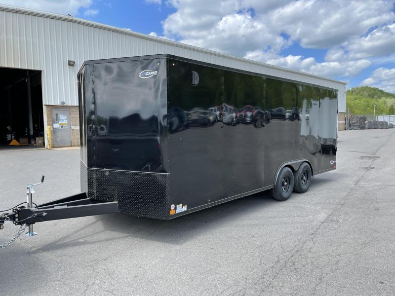 "2021 ITI Cargo 8.5x20 Enclosed Car Hauler Trailer 9900# GVW * BLACKOUT EXTERIOR * .030 SEMI-SCREWLESS * RV DOOR * 1 PC ROOF * 3/8"" WALLS * 3/4"" FLOOR * PLYWOOD * TRIPLE TUBE TONGUE * 6'6"" INTERIOR * 24"" STONEGUARD * HIGH GLOSS PAINTED FRAME * D-RINGS"