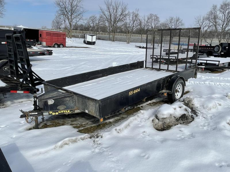 USED 2016 Doolittle 7x14' Solid Side Utility Landscape Trailer 2990# GVW * SOLID SIDES * TOOLBOX * BENT TONGUE * NO TITLE
