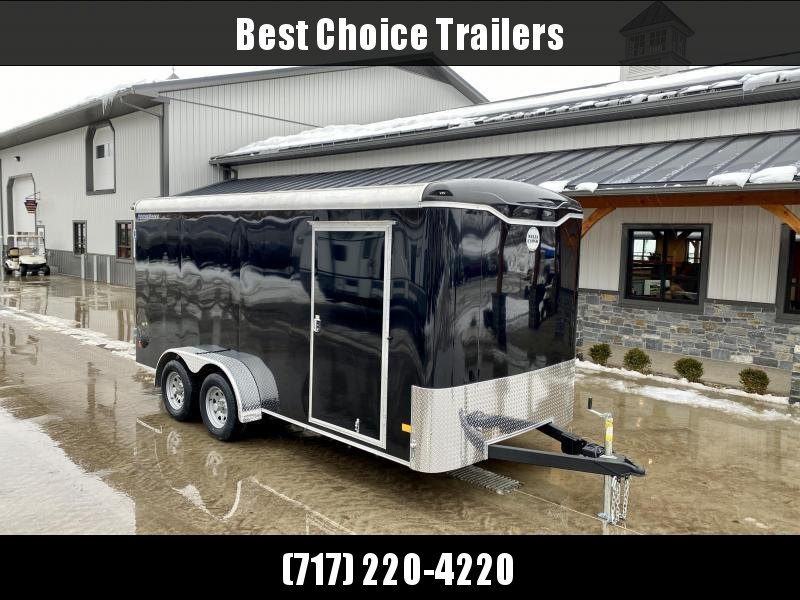 "2021 Wells Cargo 7x16' Enclosed Cargo Trailer 7000# GVW * RAMP DOOR * BLACK EXTERIOR * 3/4"" FLOOR * 1-PIECE ROOF * .030 SCREWLESS EXTERIOR * RV DOOR * 6'6 HEIGHT * ARMOR TECH * 16"" O.C.C/M'S"