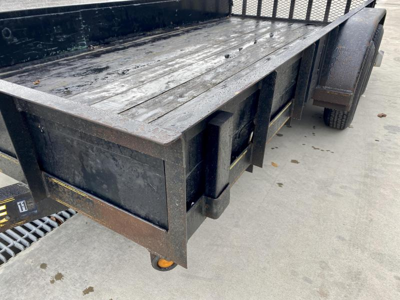 USED 2007 Parker 7x14' Utility Trailer 7700# GVW * WOOD SIDES * D-RINGS * HD TUBE GATE