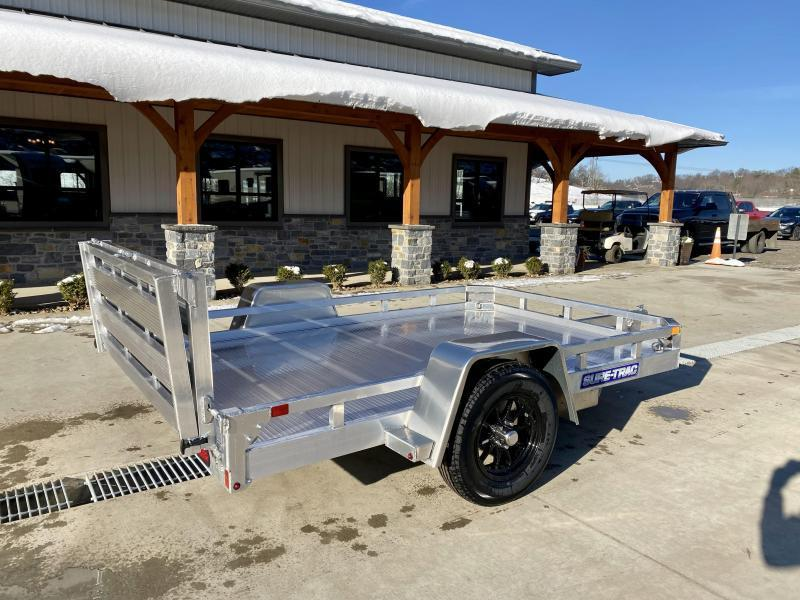 2022 Sure-Trac 7x10' All Aluminum Utility Landscape Trailer 2990# GVW * TORSION * EXTRUDED FLOOR * EXTENDED 4.5' BI FOLD GATE * LOW LOAD ANGLE! * SUPER LIGHTWEIGHT