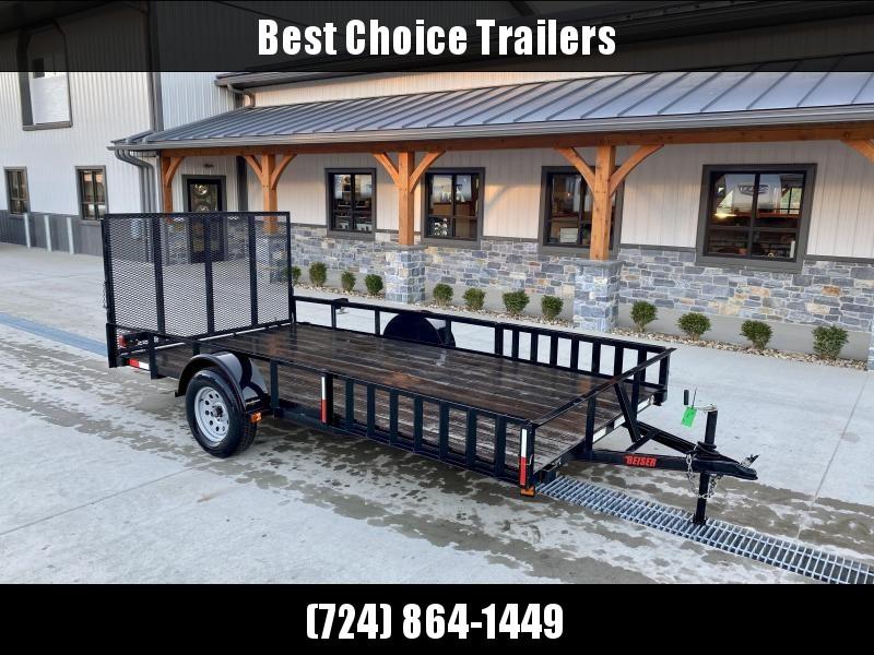 "USED 2018 Reiser Trailers 7x14' ATV Utility Landscape Trailer 2990# GVW * ATV SIDE RAMPS * SPRING ASSIST GATE * 15"" RADIALS * WOOD DECK"