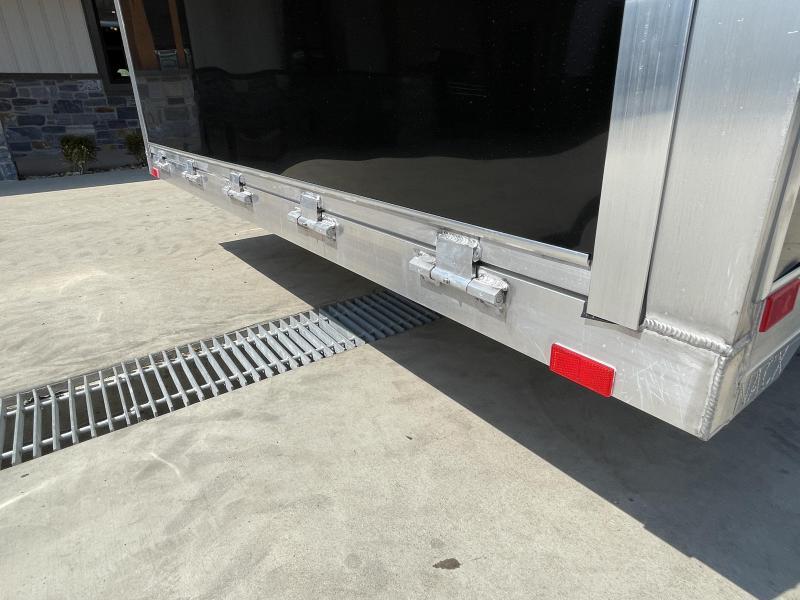 2021 NEO 8.5x22' NACX Aluminum Enclosed Car Hauler Trailer 9990# GVW * BLACK EXTERIOR * ESCAPE DOOR * 5200# TORSION * BULLNOSE * SPREAD AXLE * DRT REAR SPOILER * NXP RAMP * ROUND TOP * HD FRAME * ALUMINUM WHEELS * RV DOOR * 1 PC ROOF