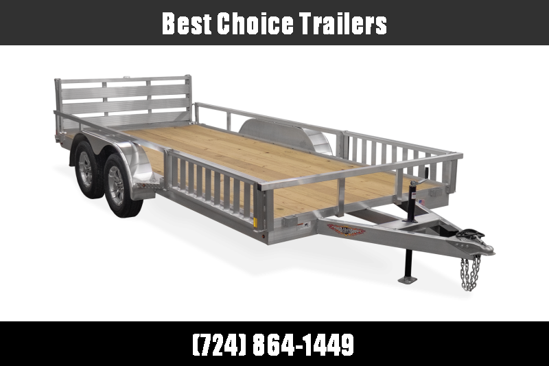 2021 H&H 7x18' TRSA Aluminum ATV Utility Landscape Trailer 7000# GVW * ATV RAMPS * ALUMINUM WHEELS * BI-FOLD GATE * SIDE LOAD RAMPS