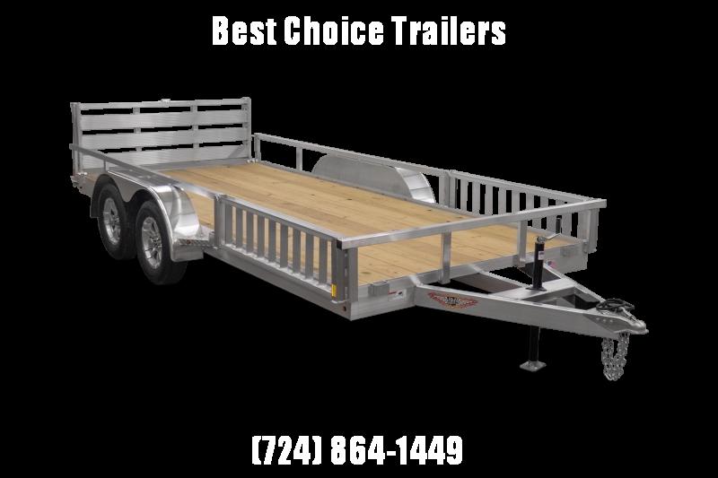 2021 H&H 7x18' TRSA Aluminum ATV Utility Landscape Trailer 7000# GVW * ATV RAMPS * ALUMINUM WHEELS * BI-FOLD GATE * SIDE LOAD RAMPS