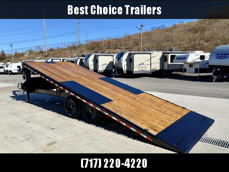"2021 Ironbull 102x24' Gooseneck Deckover Power Tilt Trailer 14000# GVW * I-BEAM FRAME * RUBRAIL/STAKE POCKETS/PIPE SPOOLS/D-RINGS/BANJO EYES * 6"" TUBE BED FRAME * 4X4X1/4 WALL TUBE BED RUNNERS (12#/') * DUAL 12K JACKS"