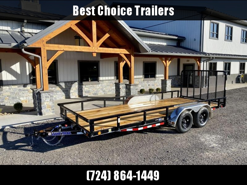 2021 Load Trail 7x18' Commercial Utility Landscape Trailer * REMOVABLE SIDES * CHANNEL FRAME & TONGUE * TUBE GATE * ALUMINUM FENDERS * TUBE TOP * TIE DOWNS * CAST COUPLER * COLD WEATHER HARNESS * DEXTER AXLES * 2-3-2 WARRANTY * CLEARANCE