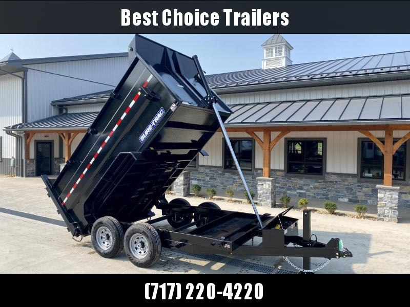 2021 Sure-Trac 7x12' Dump Trailer 14000# GVW * DELUXE TARP KIT * 4' HIGH SIDES * TELESCOPIC HOIST * 12K JACK * FRONT/REAR BULKHEAD * INTEGRATED KEYWAY * UNDERBODY TOOL TRAY * ADJUSTABLE COUPLER * 110V CHARGER * UNDERMOUNT RAMPS * CLEARANCE