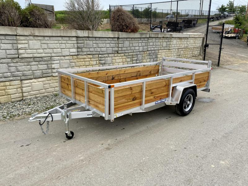"2021 Sure Trac 6x12' Aluminum Wood High Side Utility Landscape Trailer 2990# GVW * 2' HIGH SIDES * BI FOLD GATE * ALUMINUM WHEELS * TUBE TOP * TRIPLE TUBE TONGUE * TUBE TONGUE * SWIVEL JACKS * STAKE POCKETS * EXTENDED 54"" GATE"