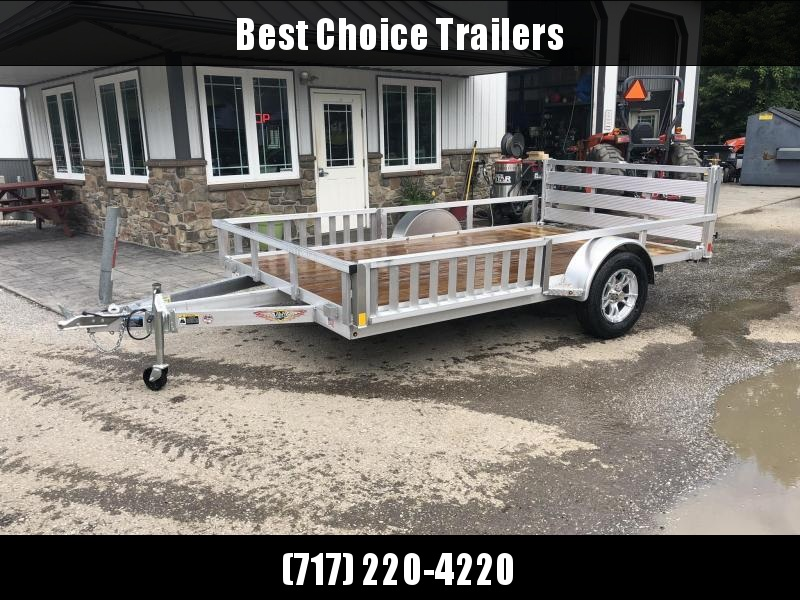 2021 H&H 7x12' RSAV Aluminum ATV Utility Landscape Trailer 2990# GVW * BI FOLD GATE * ALUMINUM WHEELS * ATV SIDE RAMPS