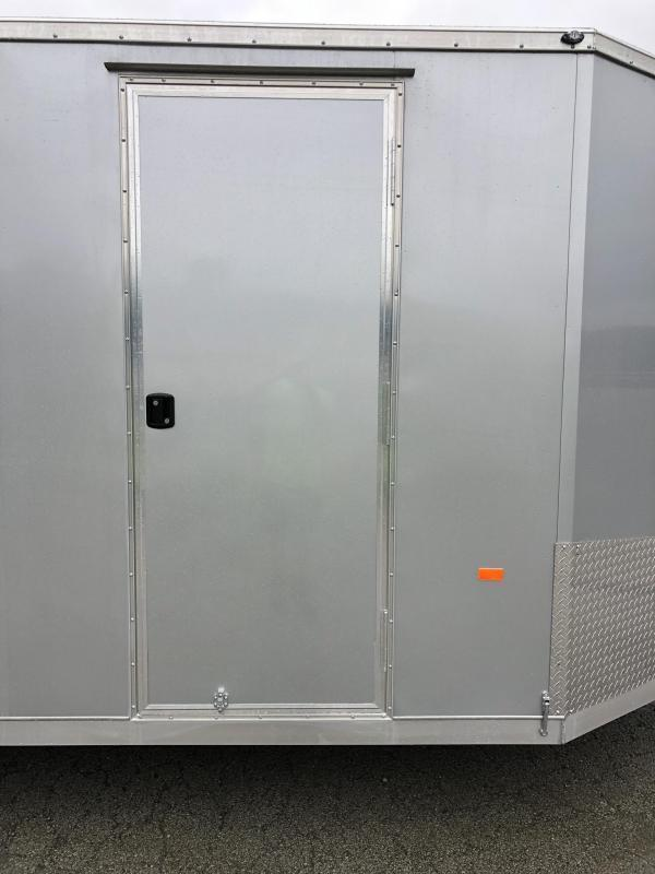 "2021 Neo 7x26' NASF Aluminum Enclosed All-Sport Trailer 7000# GVW * 7' HEIGHT UTV PKG * SILVER EXTERIOR * FRONT/REAR NXP RAMP * VINYL WALLS * SPORT TIE DOWN SYSTEM * 16"" O.C. FLOOR * PRO STAB JACKS * UPPER CABINET * ALUMINUM WHEELS * SCREWLESS * 1 PC RO"