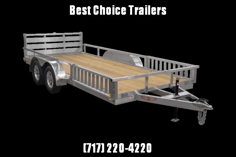 2022 Sure Trac 7x16' Aluminum ATV Utility Landscape Trailer 7000# GVW * EXTRUDED ALUMINUM FLOOR * ATV RAMPS * ALUMINUM WHEELS * BI-FOLD GATE * SIDE LOAD RAMPS