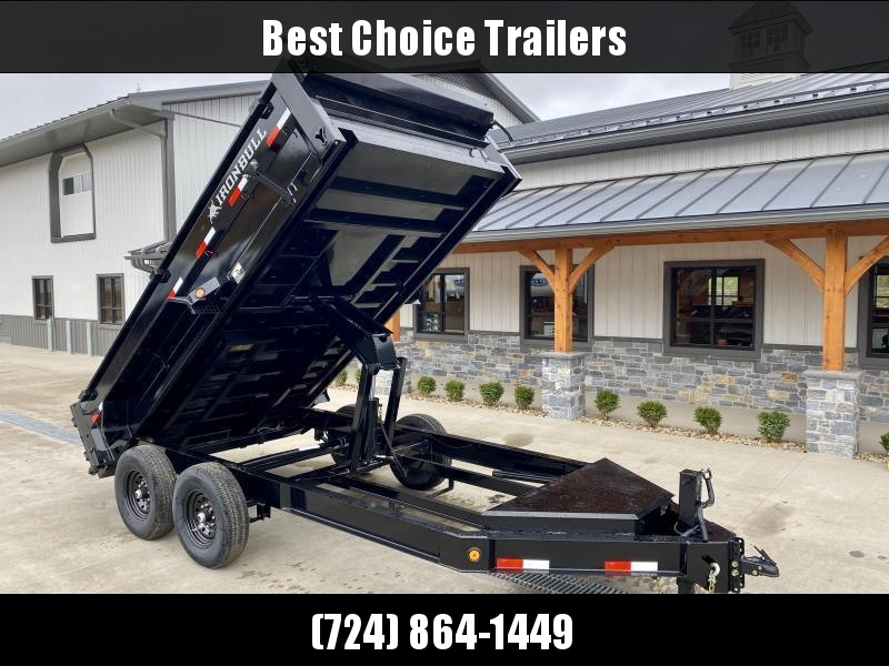 "2021 Ironbull 7x14' Dump Trailer 14000# GVW * TARP KIT * SCISSOR HOIST * 8"" I-BEAM FRAME * 1PC 7 GA FLOOR * COMBO GATE * UNDERBODY BED RUNNERS * OVERSIZED TOOLBOX * DEXTER AXLES * 2-3-2 WARRANTY"