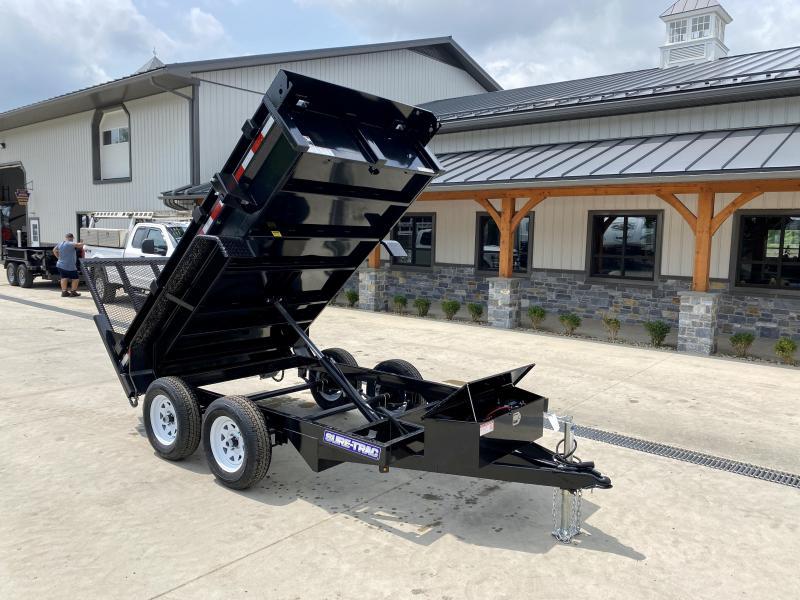 2021 Sure-Trac 5x10' Tandem Axle Dump Trailer 7000# GVW * LANDSCAPE GATE * INTEGRATED KEYWAY * SPARE MOUNT * TARP PREP * D-RINGS * DIAMOND PLATE FENDERS * POWER UP/ DOWN * TRIPLE TUBE TONGUE * BULLET LED'S * RADIALS