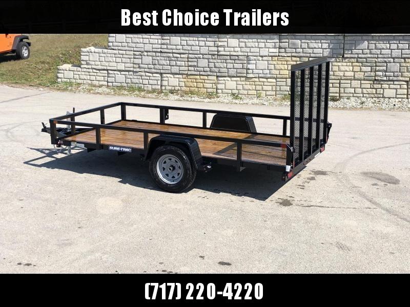 "2021 Sure-Trac 6x12' Tube Top Utility Landscape Trailer 2990# GVW * 2"" TUBE TOP RAIL * 2X2"" TUBE GATE C/M + SPRING ASSIST + FOLD FLAT * TOOLESS GATE REMOVAL * SPARE MOUNT * PROTECTED WIRING * SET BACK JACK * TRIPLE TUBE TONGUE * STAKE POCKETS * BULLET LED"
