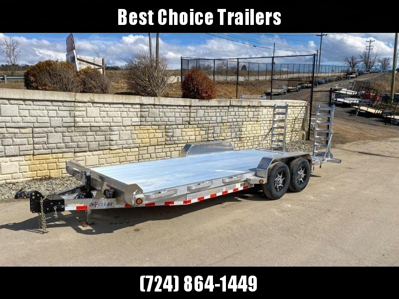 2020 Ironbull 7x20' Aluminum Equipment Trailer 14000# GVW * EXTRUDED ALUMINUM FLOOR * STACKED ALUMINUM FRAME * DEXTER AXLES * ALUMINUM STAND UP RAMPS * ALUMINUM WHEELS * RUBRAIL/STAKE POCKETS/CHAIN SPOOLS/D-RINGS * REMOVABLE FENDERS