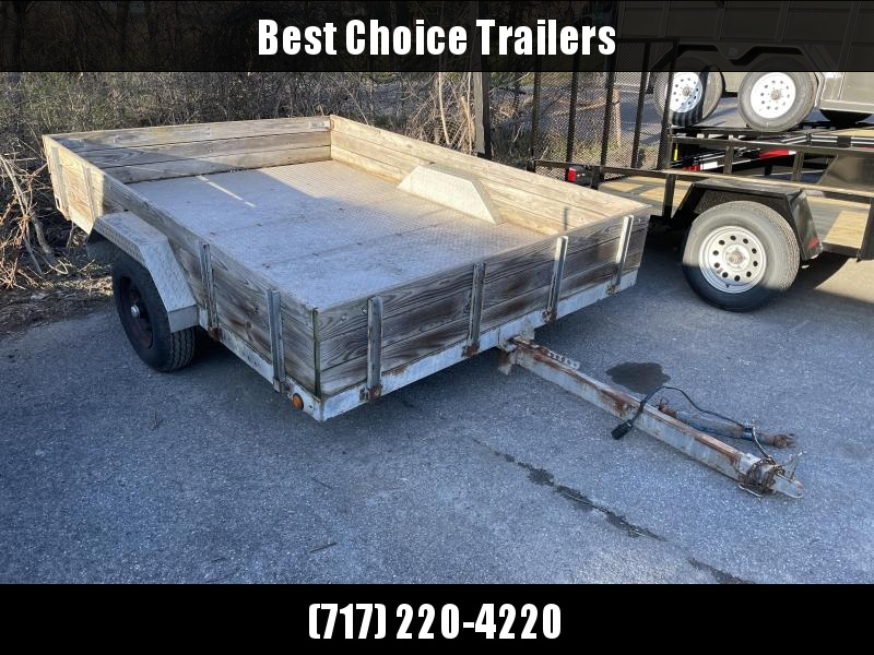 Used 7X10 Single Axle Utility Trailer 2990# GVW * STEEL DP FLOOR