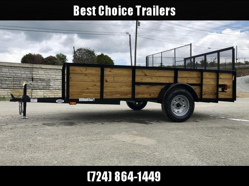 2022 AMO 78x12' High Side Utility Landscape Trailer 2990# GVW * 3-BOARD HIGH SIDE * 2' SIDES * TOOLESS GATE REMOVAL * TIE DOWNS