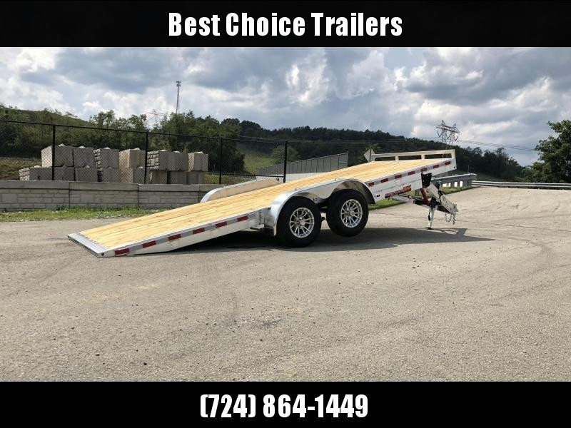 "2021 H&H 7x20' Aluminum Tilt Car Hauler Trailer 9990# GVW * 8"" CHANNEL FRAME * REMOVABLE FENDERS * ALUMINUM WHEELS * DROP JACK * INTEGRATED TAIL LIGHTS"