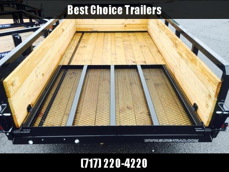 """2021 Sure-Trac 5x8' High Side Utility Landscape Trailer 2990# GVW * 24"""" 3-BOARD HIGH SIDE * 2"""" TUBE TOP RAIL * 2X2"""" TUBE GATE C/M + SPRING ASSIST + FOLD FLAT * TOOLESS GATE REMOVAL * SPARE MOUNT * PROTECTED WIRING * SET BACK JACK * TRIPLE TUBE TONGUE * D-"""