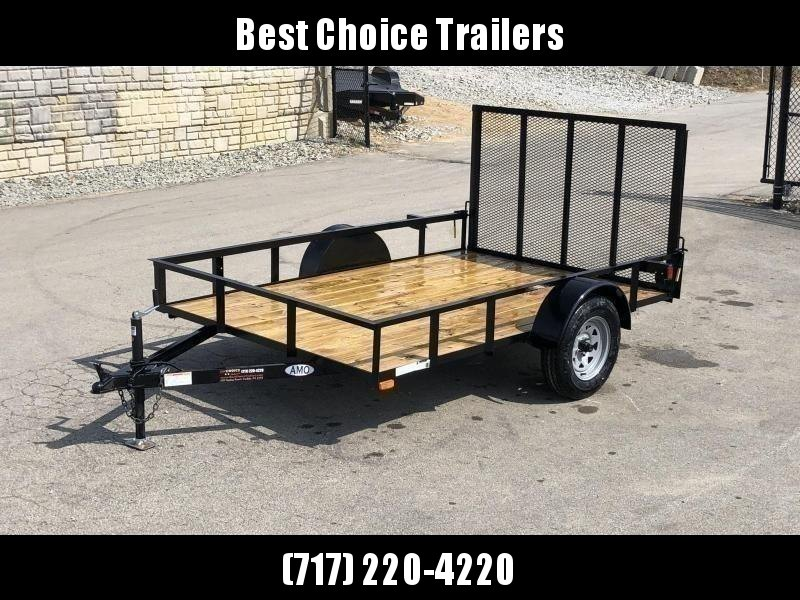 "2021 AMO 78x10' Utility Landscape Trailer 2990# GVW * 4' GATE * TOOLESS GATE REMOVAL * 3500# AXLE * 15"" RADIAL TIRES"