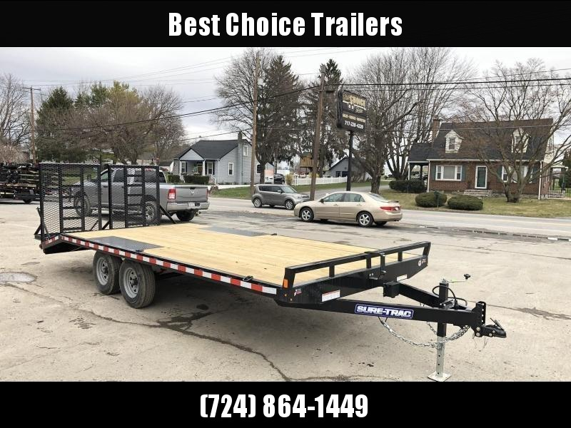 2021 Sure-Trac 102x20 Beavertail Deckover Trailer 9900# GVW * HD SPLIT GATE + SPRING ASSIST * TUBE SIDE RAIL + CROSSMEMBERS * RUBRAIL/STAKE POCKETS/D-RINGS * SPARE MOUNT * ADJUSTABLE COUPLER * DROP LEG JACK