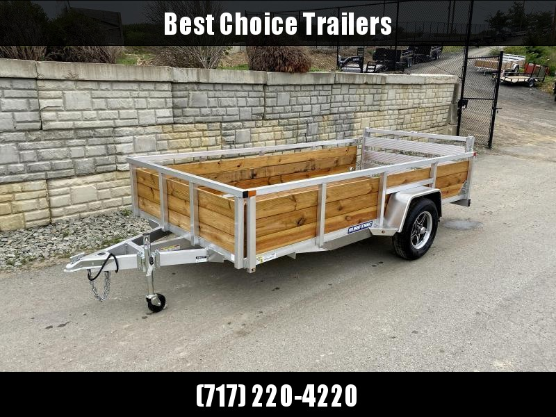 "2021 Sure Trac 7x14' Aluminum Wood High Side Utility Landscape Trailer 2990# GVW * 2' HIGH SIDES * BI FOLD GATE * ALUMINUM WHEELS * TUBE TOP * TRIPLE TUBE TONGUE * TUBE TONGUE * SWIVEL JACKS * STAKE POCKETS * EXTENDED 54"" GATE"