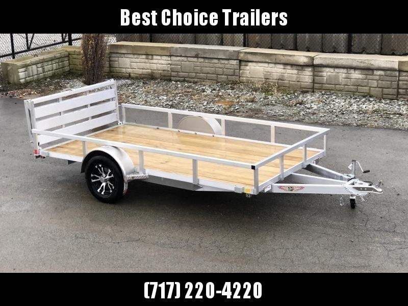 "2021 Sure Trac 6x12' Aluminum Utility Landscape Trailer 2990# GVW * BI FOLD GATE * ALUMINUM WHEELS * TUBE TOP * TRIPLE TUBE TONGUE * TUBE TONGUE * SWIVEL JACKS * STAKE POCKETS * EXTENDED 54"" GATE"
