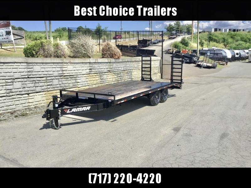"""2020 Lamar 102x20' Beavertail Deckover Trailer 14000# GVW * DELUXE OVERWIDTH RAMPS W/ MESH FACE + SPRING ASSIST  * BLACK * TOOL TRAY * HD COUPLER * I-BEAM FRAME * 16"""" O.C. C/M * RUBRAIL/STAKE POCKETS/PIPE SPOOLS * CHANNEL SIDE RAIL * 4X8"""" TUBE BUMPER"""