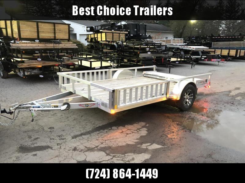 2021 H&H 7x14' RSAV Aluminum ATV Utility Landscape Trailer 2990# GVW * BI FOLD GATE * ALUMINUM WHEELS * ATV SIDE RAMPS