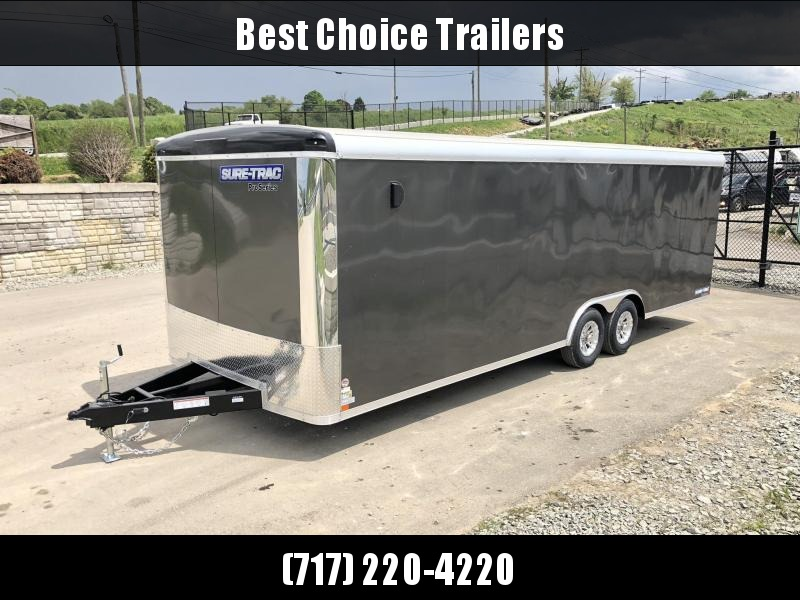 2019 Sure-Trac 8.5x20' 9900# STR Commercial Enclosed Cargo Trailer * ROUND TOP * RAMP DOOR  * CHARCOAL * SCREWLESS * ONE PIECE ROOF * ALUMINUM WHEELS