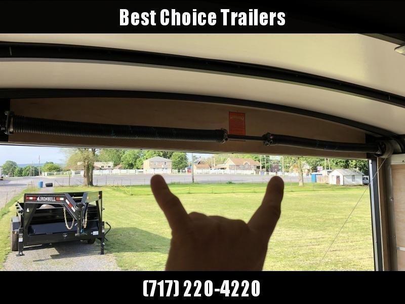 "2021 Sure-Trac 8.5x20' Landscape Pro Enclosed Trailer 9900# GVW * WHITE EXTERIOR * 2X6"" PLANK FLOOR * EXTENDED TONGUE * 5200# TORSION * INTEGRATED KNIFE EDGE * STEEL WORKBENCH * EXTENDED TONGUE * ADJUSTABLE COUPLER * DROP LEG JACK * HD GUSSETS/REINFORCEME"