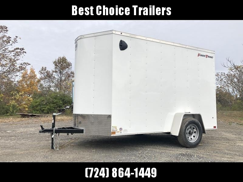 """2021 Wells Cargo 6x10' Fastrac Enclosed Cargo Trailer 2990# GVW * WHITE EXTERIOR * RAMP DOOR * V-NOSE * 1 PC ROOF * 16"""" O.C. WALLS * BULLET LED'S"""