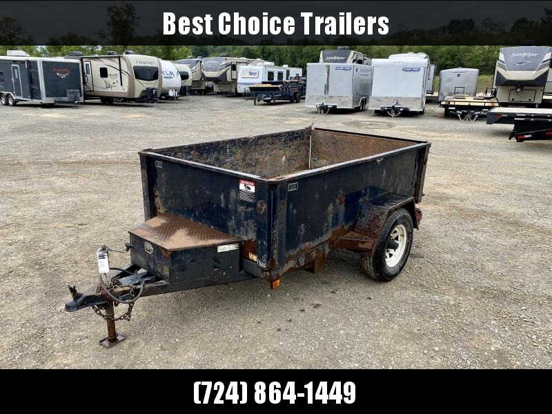 USED 2012 B-Wise 5x8' Dump Trailer 5000# GVW