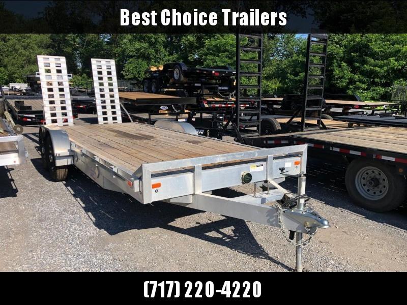 USED 2018 American Hauler 7x18' Aluminum Equipment Trailer 14000# GVW * OVERWIDTH RAMPS * ALUMINUM WHEELS * ALUMINUM FRAME