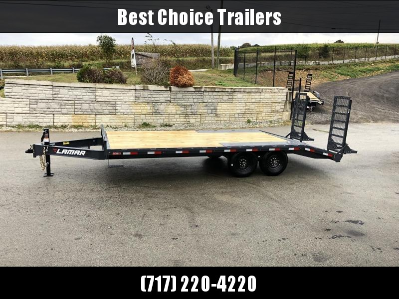 "2020 Lamar 102x20' Beavertail Deckover Trailer 14000# GVW * DELUXE OVERWIDTH RAMPS W/ MESH FACE + SPRING ASSIST  * CHARCOAL * TOOL TRAY * HD COUPLER * I-BEAM FRAME * 16"" O.C. C/M * RUBRAIL/STAKE POCKETS/PIPE SPOOLS * CHANNEL SIDE RAIL * 4X8"" TUBE BUMPER"