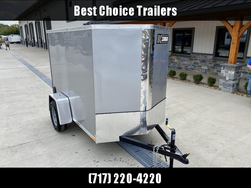 "2021 ITI Cargo 5x8' Enclosed Cargo Trailer 2990# GVW * WHITE EXTERIOR * .030 SEMI-SCREWLESS * 1 PC ROOF * 3/8"" WALLS * 3/4"" FLOOR * 16"" STONEGUARD * HIGH GLOSS PAINTED FRAME"