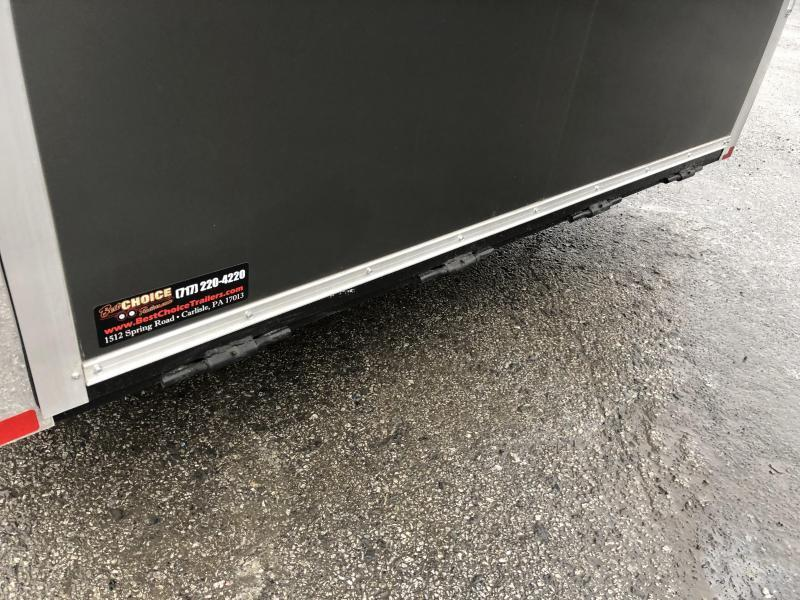 2021 Sure Trac 8.5x24' Racing Pro Enclosed Car Hauler Trailer 9900# GVW * LOADED * CHARCOAL * NUDO * VINYL WALLS/CEILING * CABINETS * TORSION * BULLNOSE * FULL ESCAPE DOOR